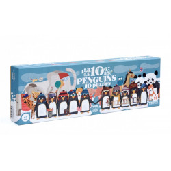 Puzzle 10 pinguinos Londji