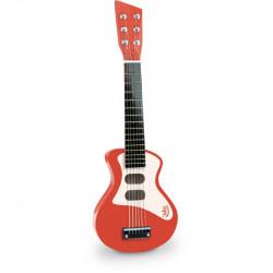 Guitarra de rock infantil Roja