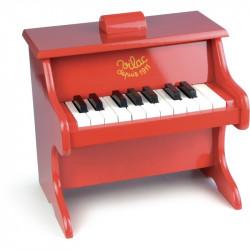Piano rojo de madera Vilac
