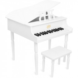 Piano de cola Blanco madera...