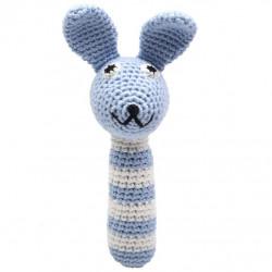 Sonajero bambú Conejo azul...