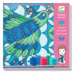 Pintura sobre seda el pavo...