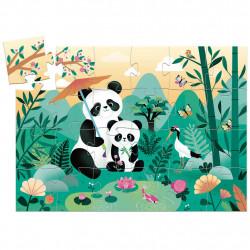 Puzzle Silueta Leo el panda...