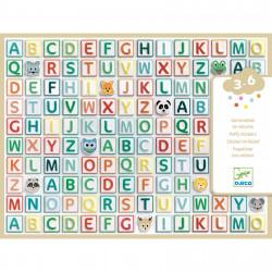 Pegatinas del abecedario Djeco