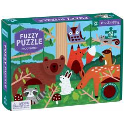 Mudpuppy Woodland Fuzzy Puzzle