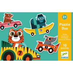 Puzzle Duo Bólidos DJECO
