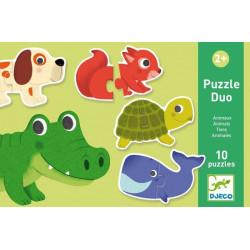 Puzzle Duo Animales DJECO