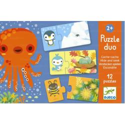 Puzzle Duo Escondite DJECO