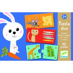 Puzzle Duo A comer djeco