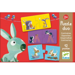 Puzzle Duo Contrarios djeco