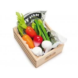Caja de verduras de juguete