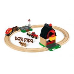 Circuito tren con granja Brio