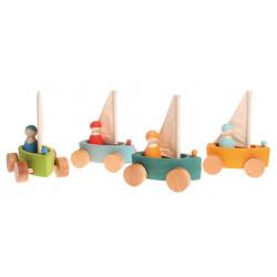 Barcos de madera con...