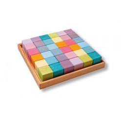 Mosaico Arcoiris Pastel Grimms