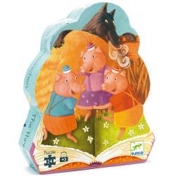 Puzzle Los tres cerditos djeco