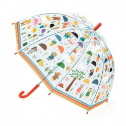 Paraguas bajo la lluvia djeco