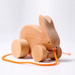 Arrastre conejo de madera...
