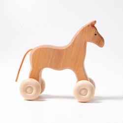 Arrastre caballo de madera...