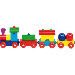 Tren de madera colores Peru...