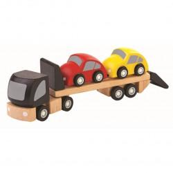 Camión trailer con coches...