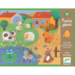 Puzzle táctil la granja djeco
