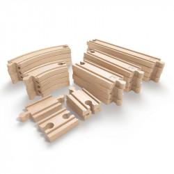 Set de vias de madera Hape