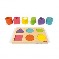 Cubos y puzzle Sensorial Janod