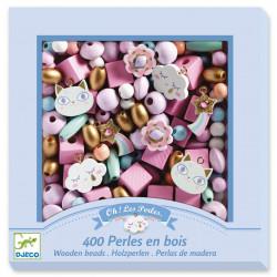 Perlas de madera Arcoiris...