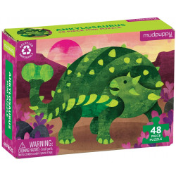Puzzle Ankylosaurus 48 pzas