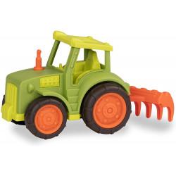 Tractor con rastrillo y...