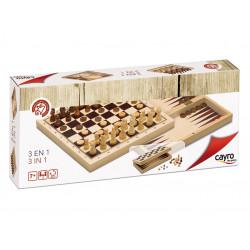 3 en 1 ajedrez damas...